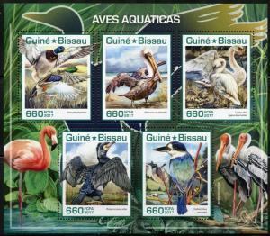 GUINEA BISSAU 2017  AQUATIC BIRDS SHEET MINT NH