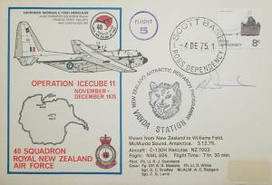 L) 1975 ROSS DEPENDENCY, 8C, BOAT, ANTARCTIC, FLIGHT 5, OPERATION ICECUBE 11