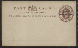 Bechuanaland overprinted on COGH 1d Brown unused Post Card, H&G PC1