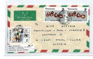 CM196 1988 *TANZANIA* Air Mail MIVA Missionary Cover