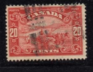 Canada Sc 157 1929 20c carmine Harvesting Grain stamp used