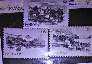 Faroe Island Scott #83-85 mnh