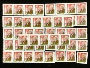 2149A George Washington w/WA Monument  50 mint  coils. 18 c stamps. Face $9