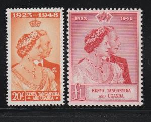 Kenya T&U 92 & 93 VF-MNH set Silver Wedding  scv $ 45 ! see pic !