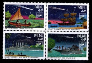 Palau  Scott 95-98a MNH** Halley's Comet block