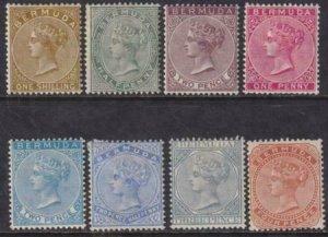 Bermuda 1883-1904 SC 18-25 Mint Set