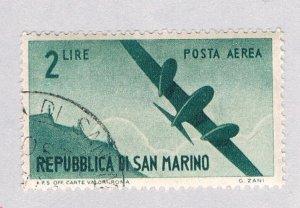 San Marino Plane green 2c (AP126120)