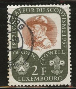 Luxembourg Scott 324 Used 1957 Baden Powell scout stamp