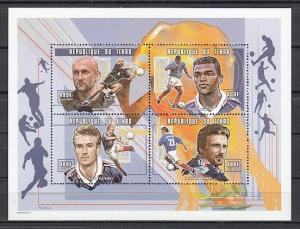 Chad, Scott cat. 802 A-D. World Cup Soccer sheet of 4.