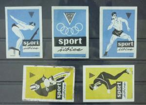 Match Box Labels ! sport olympic games athletics race GN13