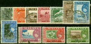 Kedah 1957 Set of 11 SG92-102 Fine Used