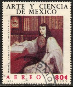 MEXICO C381, SOR JUANA BY MIGUEL CABRERA, ART AND SCIENCE. USED. F-VF.(1278)