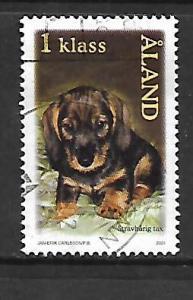 ALAND ISLANDS, 192, USED, DACHSHUND