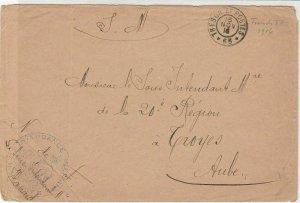 France WW1 French Military 1916 Tresor Et Postes No63 Cover Ref 30944