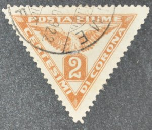 DYNAMITE Stamps: Fiume Scott #P2 – USED