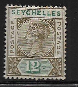 SEYCHELLES, 8,  HINGED, QUEEN VICTORIA