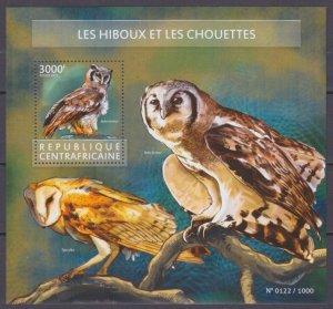 2015 Central African Republic 5649/B1351 Birds / Owl 14,00 €