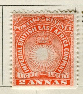 BRITISH KUT; ; 1890 East Africa Company fine Mint hinged 2a. value