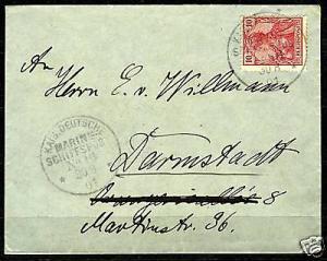 Seapost 1901 MSP No. 16, SMS Charlotte, Cover