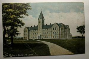 Vintage College Ennis Clare Portarlington Ireland Real Picture Postcard Cover