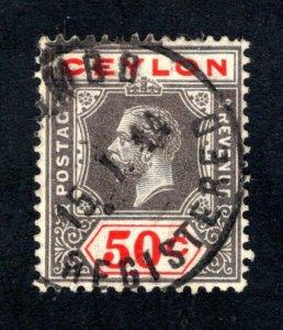 Ceylon #209, F/ VF, Used,  CV $2.10 ....  1290176