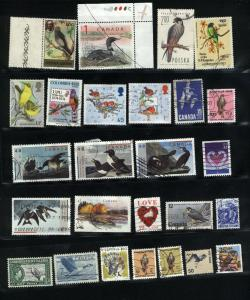 Birds 57 different  Mint & used  PD