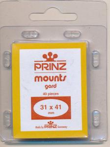 Prinz Scott Stamp Mounts Size 31/41 BLACK Pack of 40