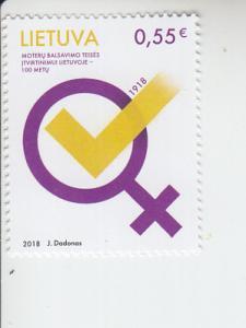 2018 Lithuania Women's Suffrage (Scott NA) MNH