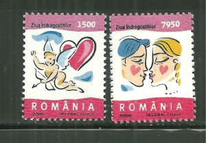 Romania MNH 4345-6 Valentines Day 2000