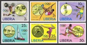 Liberia 736-741,C211,MNH.Michel 990-995,Bl.80. Olympics Montreal-1976.Yachting.