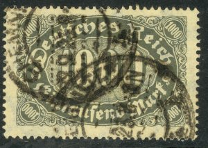GERMANY 1922-23 1000m Numeral of Value Issue Sc 204 VFU