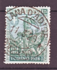 J22548 Jlstamps 1928 italy used #207 soldier