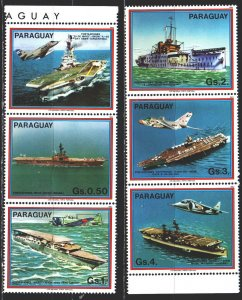 Paraguay. 1983. 3656-61 from the series. Aircraft carriers. MNH.