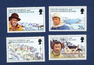 SOUTH GEORGIA - # 204-207; SG 261/4 - MNH -  Ernest Shackleton - 1996