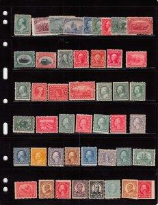 Lot of 100 U.S. MH Mint Hinged Stamps Scott Range # 213 - 642 #139142 X