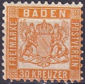Baden #25 F-VF Unused CV $32.50  (Z3047)