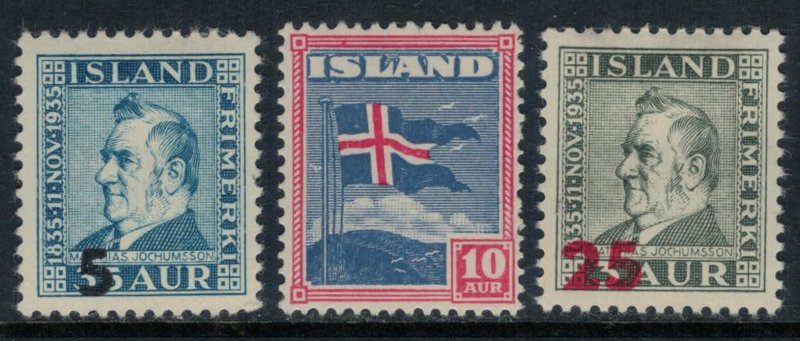Iceland #212,28,36*  CV $4.70