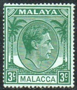 Malacca 1949 3c green MH