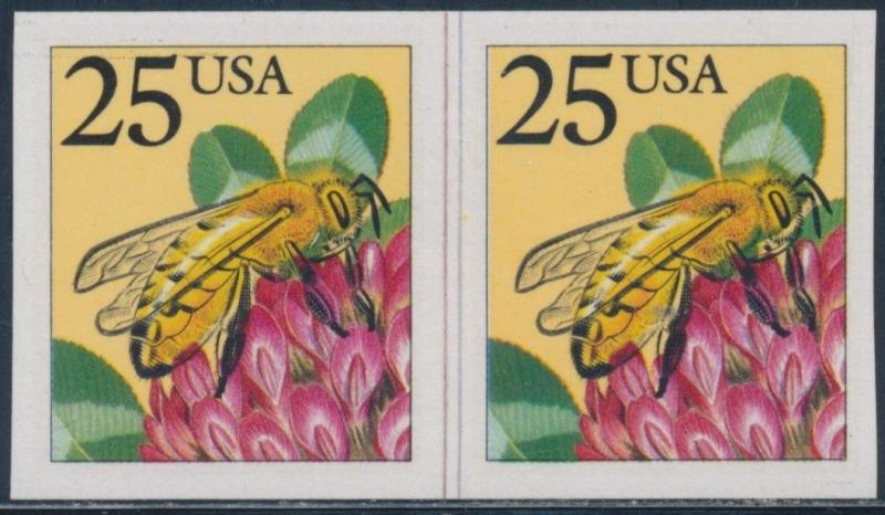 #2281a BEE LINE PAIR WITH IMPERF PAIR ERROR BT2415