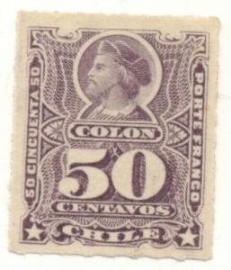 CHILE #34, Mint Hinged, Scott $55.00