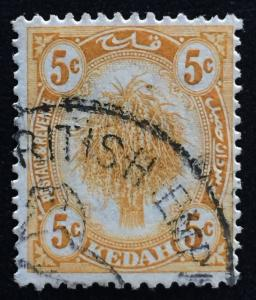 Malaya Kedah 1922 5c Definitive postmark British Empire Exhibition M1778
