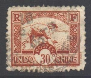 Indo-China SG191, 1931 Worker in Rice Field 30c used