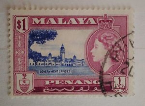 Malaya Penang Queen Elizabeth II & Local Motives Government Offices