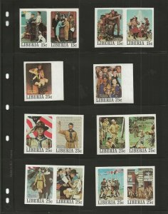 1979 Liberia Rockwell Imperforate Boy Scout set 50
