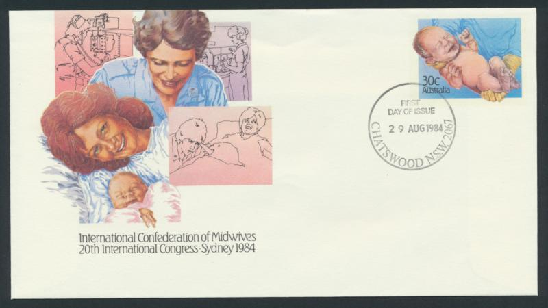 Australia PrePaid Envelope 1984 International Confederation of Midwives