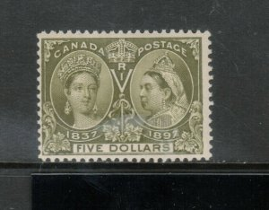 Canada #65 Mint Fine Very Light Hinge **With Certificate**