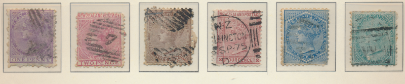 New Zealand Stamps Scott #51 To 56, Used - Free U.S. Shipping, Free Worldwide...