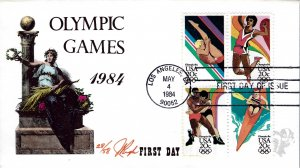 Pugh Designed/Painted 1984 Olympic Games FDC...28 of Only 58 created!