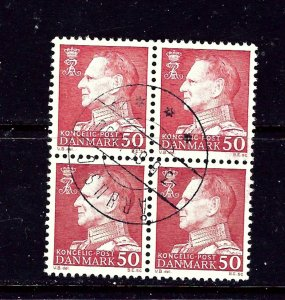 Denmark 418 Used 1965 Block of 4