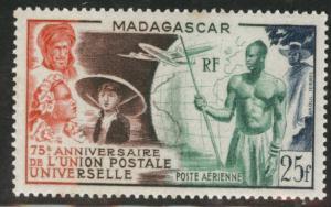 Madagascar Malagasy Scott C55 MH*  1949 UPU airmail